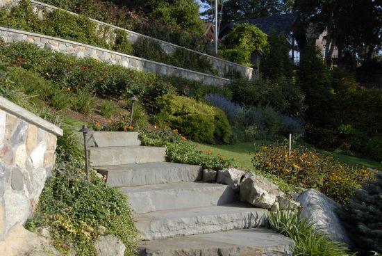 Steps Built Into Landscape Design