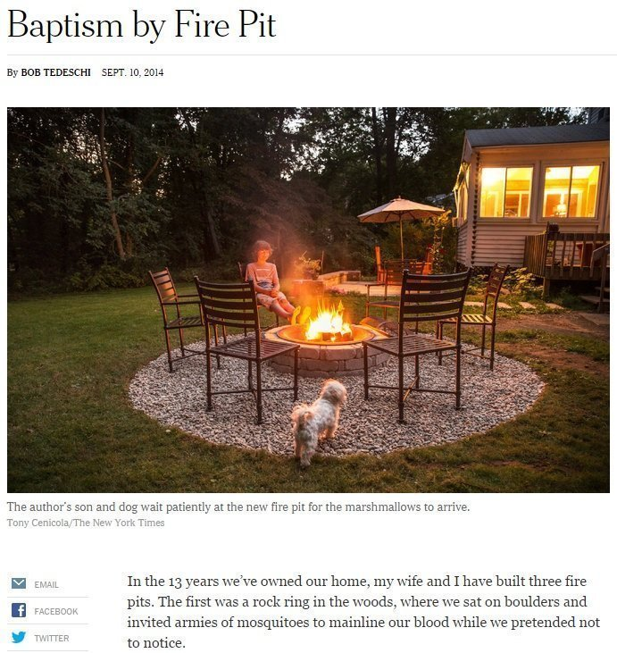 An NJ Landscaping Company Professionally Installs Outdoor Fireplaces