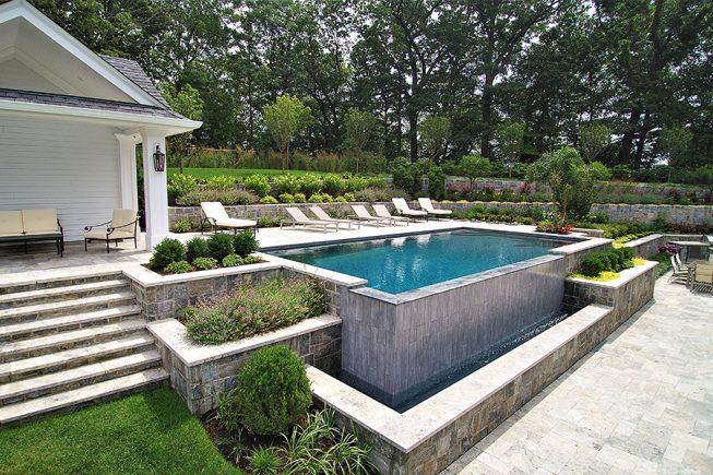 Modern Swimming Pool Design Franklin Lakes, NJ