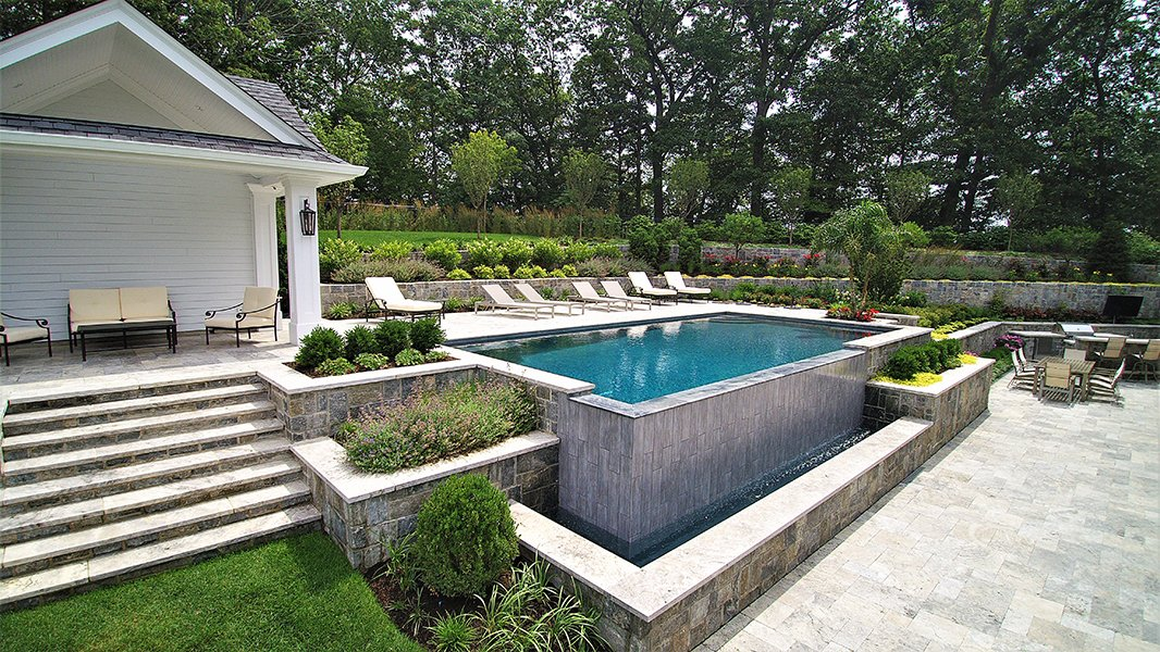 Luxury Infinity Pool, Franklin Lakes NJ