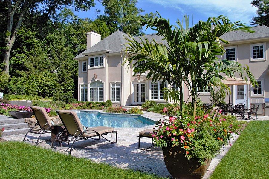 Palm Tree Planters for Pool NJ