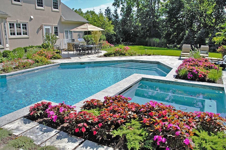 Patio Areas for Dining and Relaxing Poolside