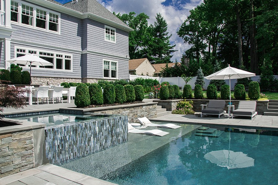 Patio and Lounging Pool Areas
