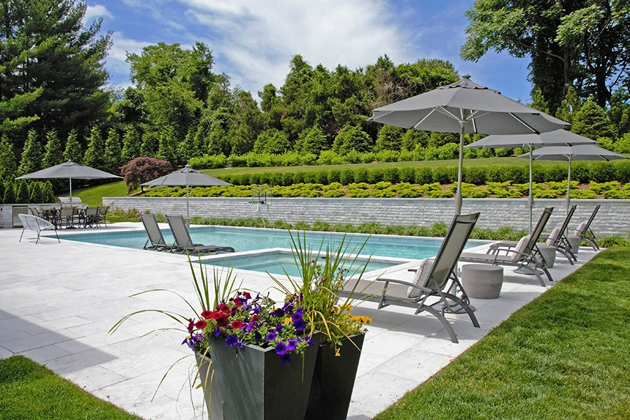 Poolside Planters Harrison NY