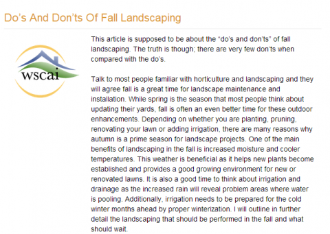 NJ Landscaping Ideas for the Fall: Make the Best Out of the Season