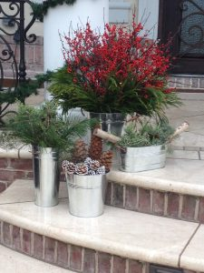 winter landscaping seasonal planters