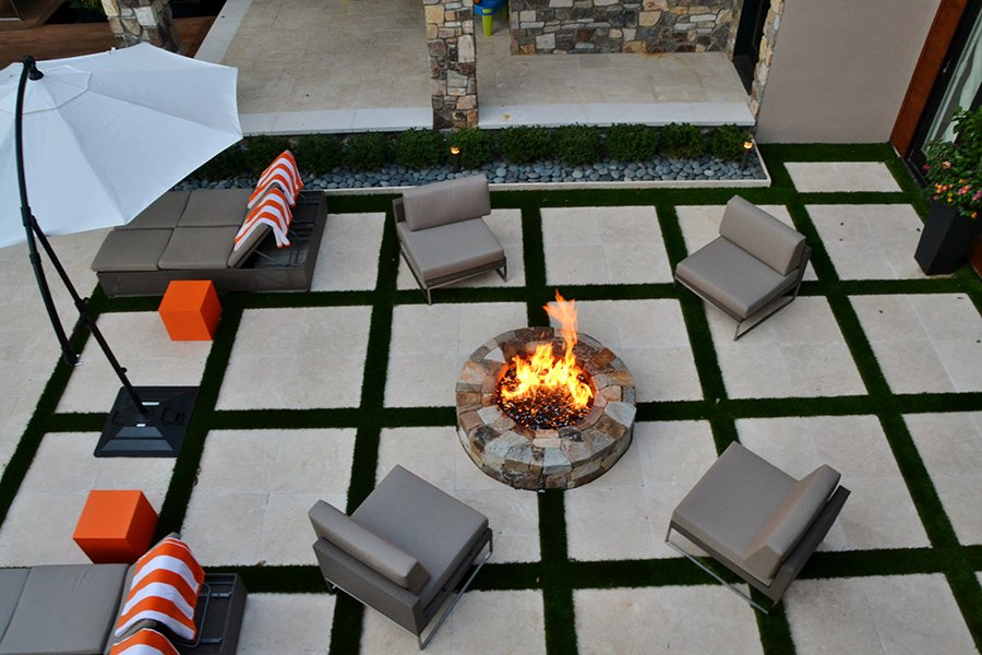 Fire Pit Seating Area, Modern Design