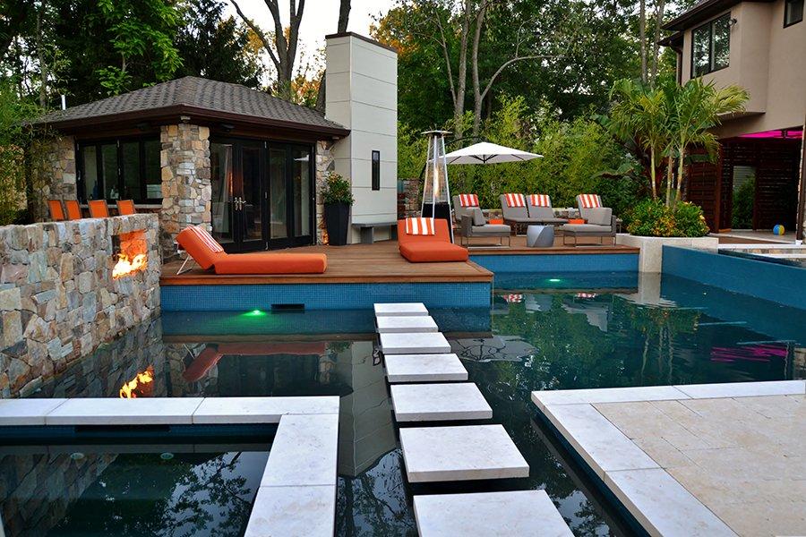 Modern Swimming Pool Design, Franklin Lakes, NJ