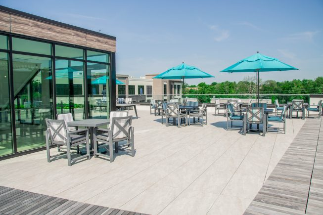 Outdoor Rooftop Dining Space NJ